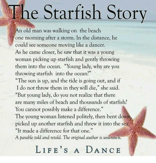The Starfish Story E Starfish Story N Old Man Was Walking -3934