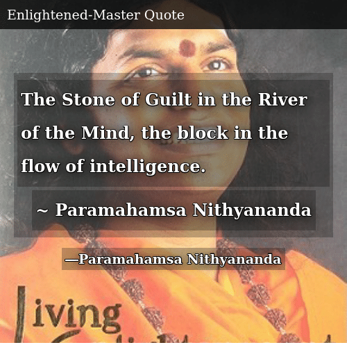 The Stone Of Guilt In The River Of The Mind The Block In The