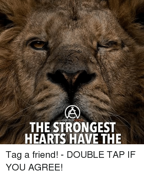 Memes, Hearts, and 🤖: THE STRONGEST  HEARTS HAVE THE Tag a friend! - DOUBLE TAP IF YOU AGREE!
