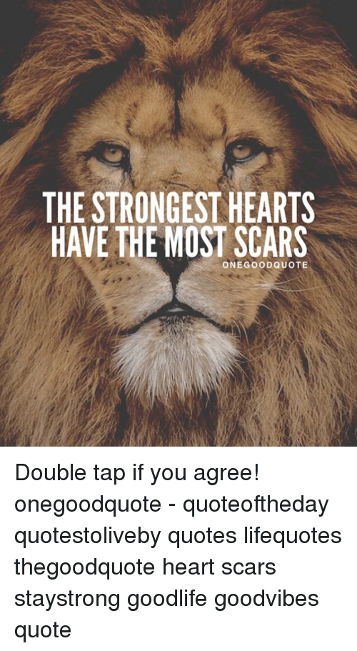 The Strongesthearts Have The Most Scars One Good Quote Double Tap If