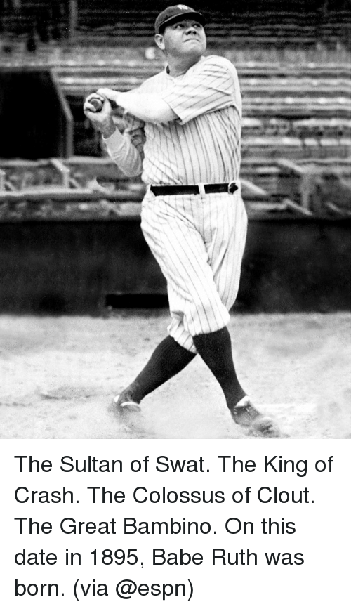 the sultan of swat Find great deals on ebay for the sultan of swat shop with confidence.