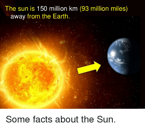 Facts The Office And Earth The Sun Is 150 Million Km 93