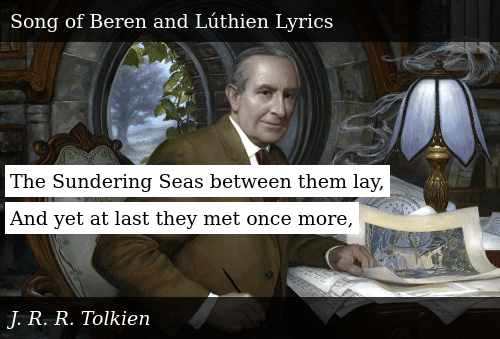 SIZZLE: The Sundering Seas between them lay, And yet at last they met once more,