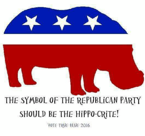 The Symbol Of The Republican Party Should Be The Hippo Crite Vote