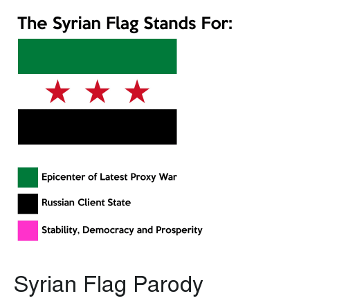 The Syrian Flag Stands for Epicenter of Latest Proxy War