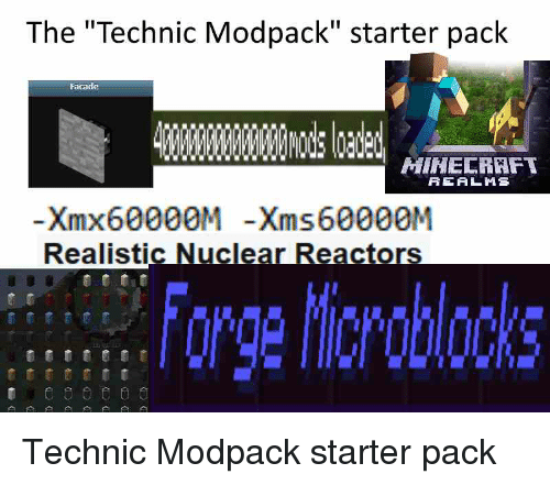 The Technic Modpack Starter Pack Facade MIHECRAFT REALMS Xmx