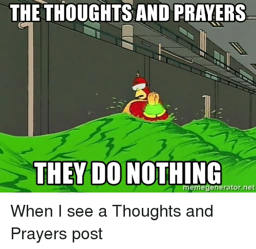 funny thoughts and prayers memes