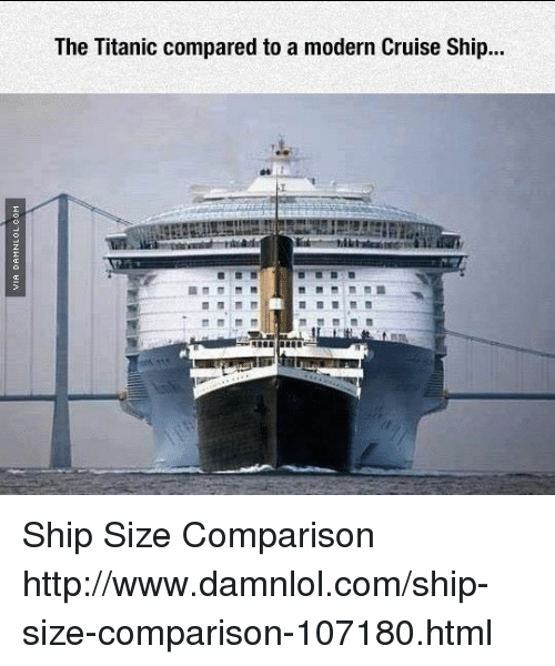 The Titanic Compared to a Modern Cruise Ship Ship Size Comparison ...