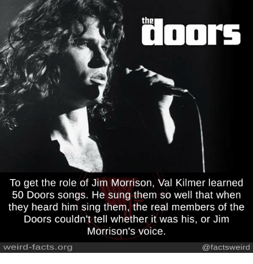 Jim Morrison Memes and Singing the To get the role of Jim Morrison : doors songs - pezcame.com