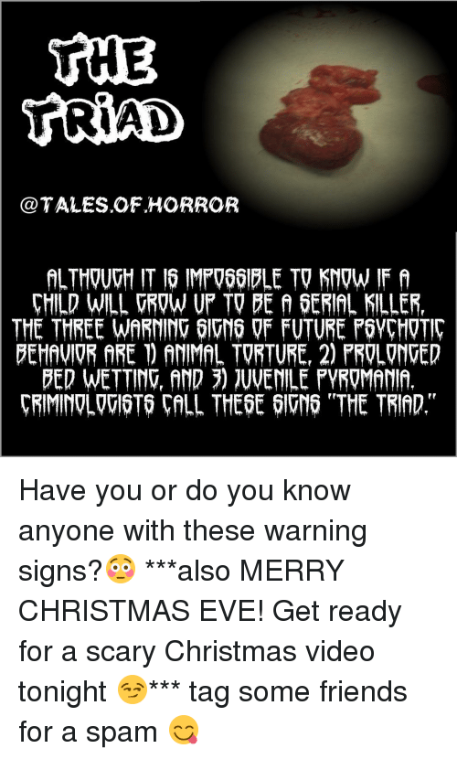 signs of a killer