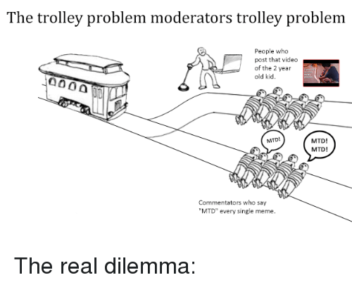 The Trolley Problem Moderators Trolley Problem People Who Post That