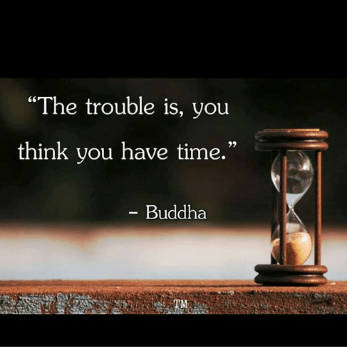 Image result for the trouble is you think you have time