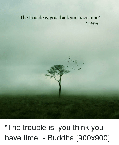 Buddhist Quotes On Time: The Trouble Is You Think You Have Time Buddha The Trouble