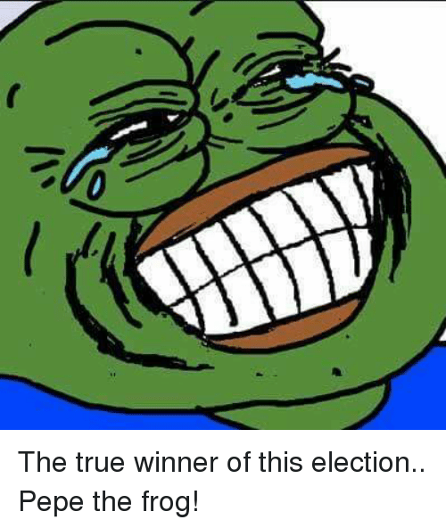 the true winner of this election pepe the frog 6287970 the true winner of this election pepe the frog! dank meme on me me,Dank Meme Frog