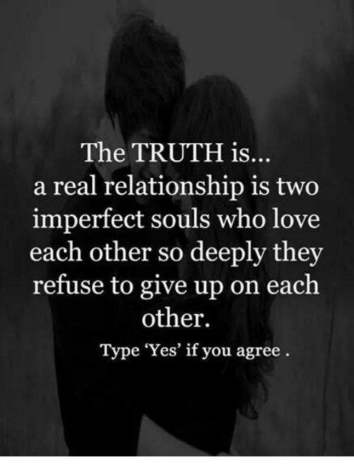 What a real relationship is