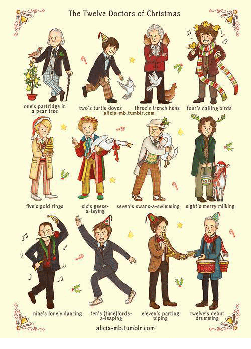 Christmas Dancing And Memes The Twelve Doctors Of Ones Partridge In A