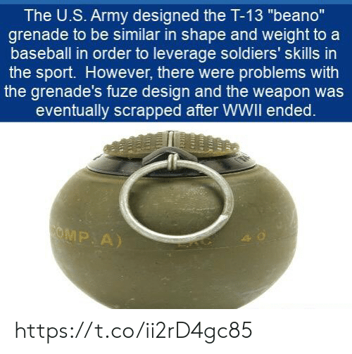 The US Army Designed the T-13 Beano Grenade to Be Similar in Shape