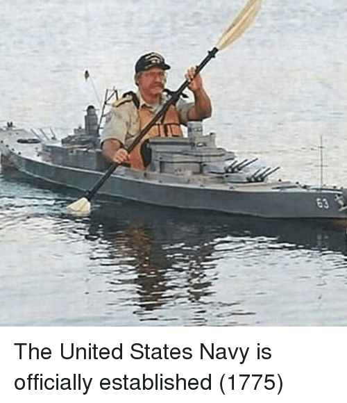 Navy, United, and United States: The United States Navy is officially established (1775)