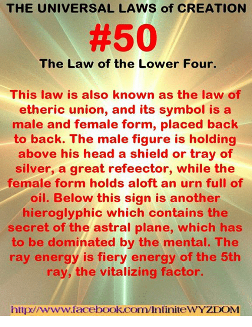 The UNIVERSAL LAWS of CREATION #50 the Law of the Lower Four