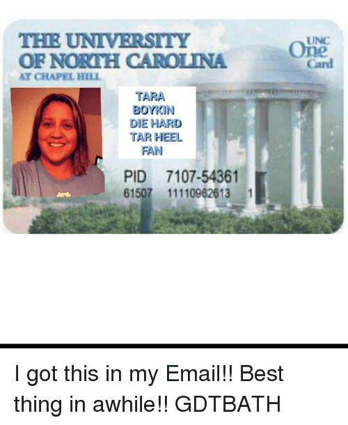 Carolina Fan Chapel Pid Got Email Heel 7107-54361 Tara Gdtbath Best North Unc My Hill 1 In 61507 At Of This The University I Thing 11110962613 Card Me me Boykin Tar Die Hard Meme Awhile On