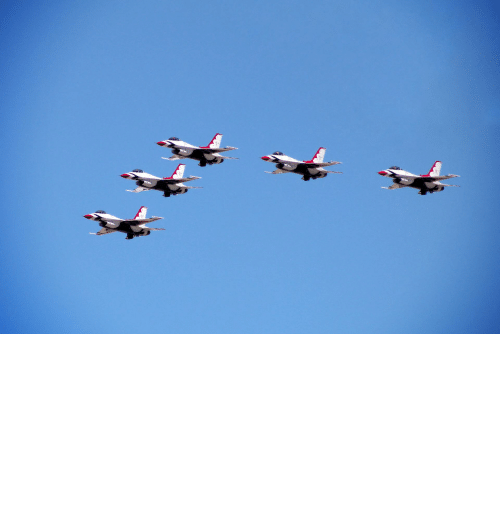 Las Vegas, Las Vegas, and Thunderbirds: The USAF Thunderbirds flew over Las Vegas hospitals in honor of frontline COVID workers
