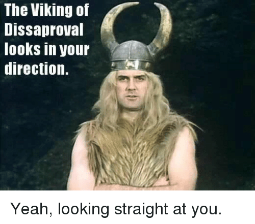 The Viking Of Dissaproval Looks In Your Direction Yeah Looking
