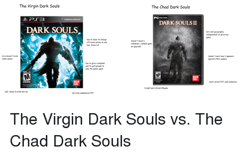 the virgin dark souls the chad dark souls pcovd rom playstation