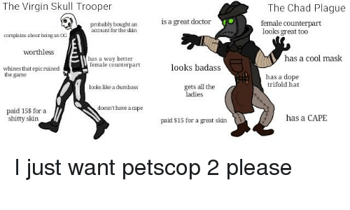 The Virgin Skull Trooper the Chad Plague Is a Great Doctor
