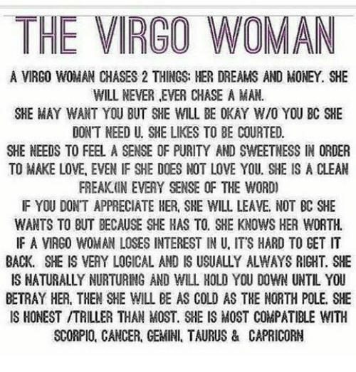 Virgo man Cancer woman