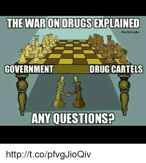 Memes, 🤖, and Cartel: THE WARONDRUGSEXPLAINED  DRUG CARTELS  GOVERNMENT  ANY QUESTIONS? http://t.co/pfvgJioQiv