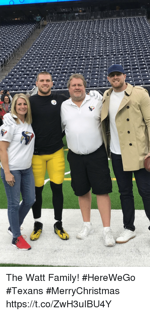 Family, Memes, and Texans: The Watt Family! #HereWeGo #Texans #MerryChristmas https://t.co/ZwH3uIBU4Y