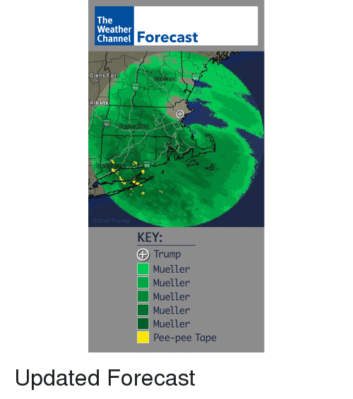 The Weather Forecast Glens Falls 91 Albany 90 95 Key 0 Trump Mueller
