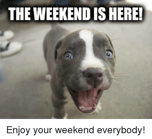 The Weekend Is Here Enjoy Your Weekend Everybody Meme On Meme