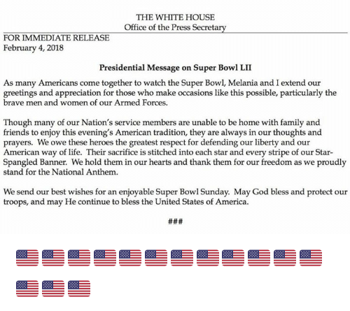 The white house office of the press secret for immediate release america family and friends the white house office of the press secret for m4hsunfo
