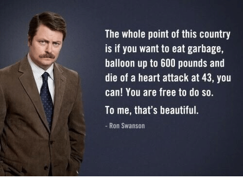 Image result for ron swanson the whole point of this country