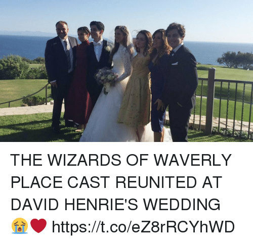 Funny, Wizards of Waverly Place, and Wizards: THE WIZARDS OF WAVERLY PLACE CAST REUNITED AT DAVID HENRIE'S WEDDING 😭❤️ https://t.co/eZ8rRCYhWD