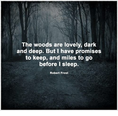 and miles to go before I sleep ROBERT FROST QUOTE~Rubber Stamp~The woods are lovely 13-14 dark and deep but I have promises to keep