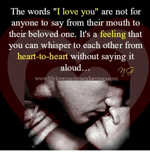 words to say to the one you love