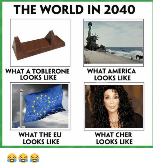 The WORLD IN 2040 WHAT a TOBLERONE LOOKS LIKE WHAT AMERICA LOOKS