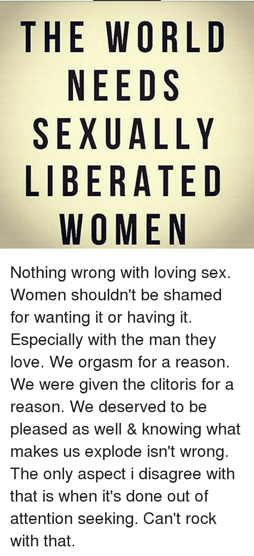 Sexually liberated man