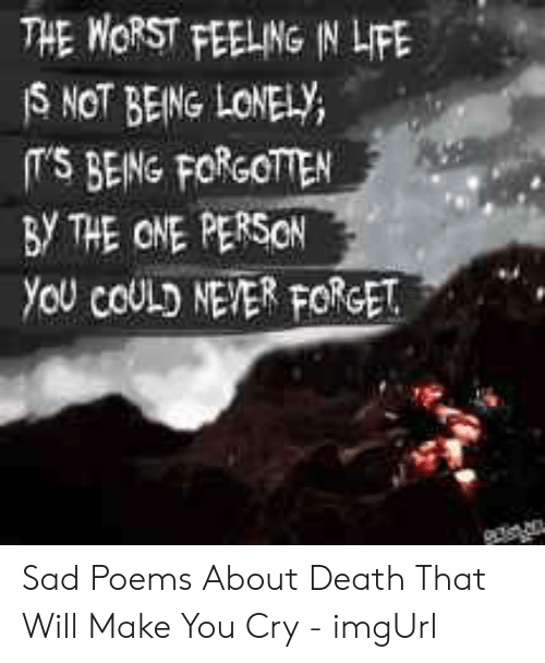 Sadness Poems That Make You Cry 2