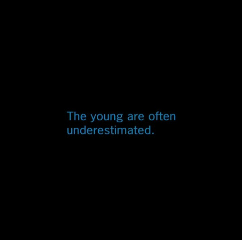 Young, The, and Are: The young are often  underestimated.