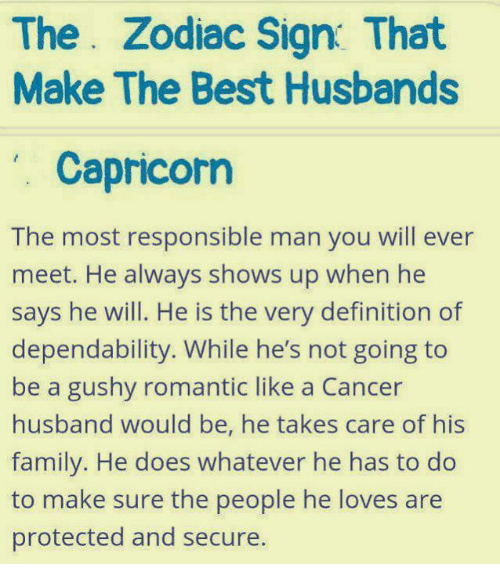 The Zodiac Sign That Make the Best Husbands Capricorn the