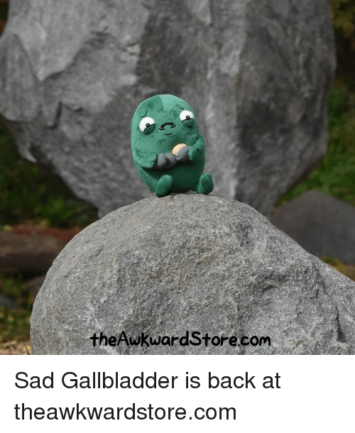 Memes, Sad, and Back: theAwkward Store.com Sad Gallbladder is back at theawkwardstore.com
