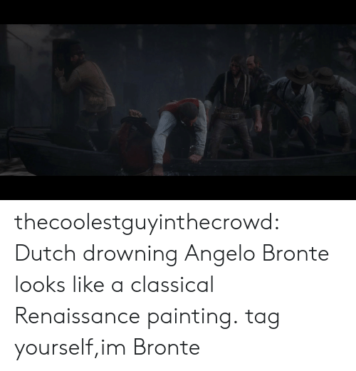 Tumblr, Blog, and Http: thecoolestguyinthecrowd:  Dutch drowning Angelo Bronte looks like a classical Renaissance painting.  tag yourself,im Bronte