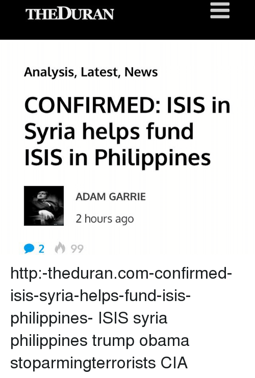 THEDURAN Analysis Latest News CONFIRMED ISIS in Syria Helps