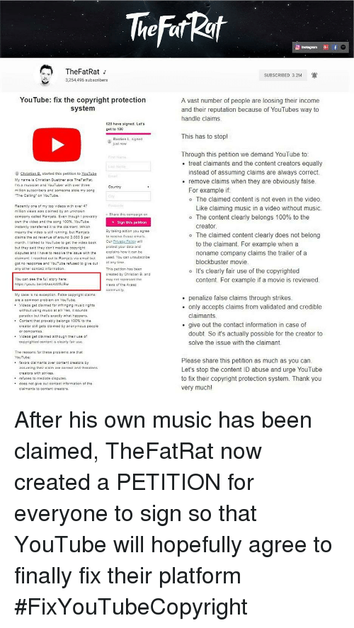 TheFatRat I 3254496 Subscribers SUBSCRIBED 32M YouTube Fix