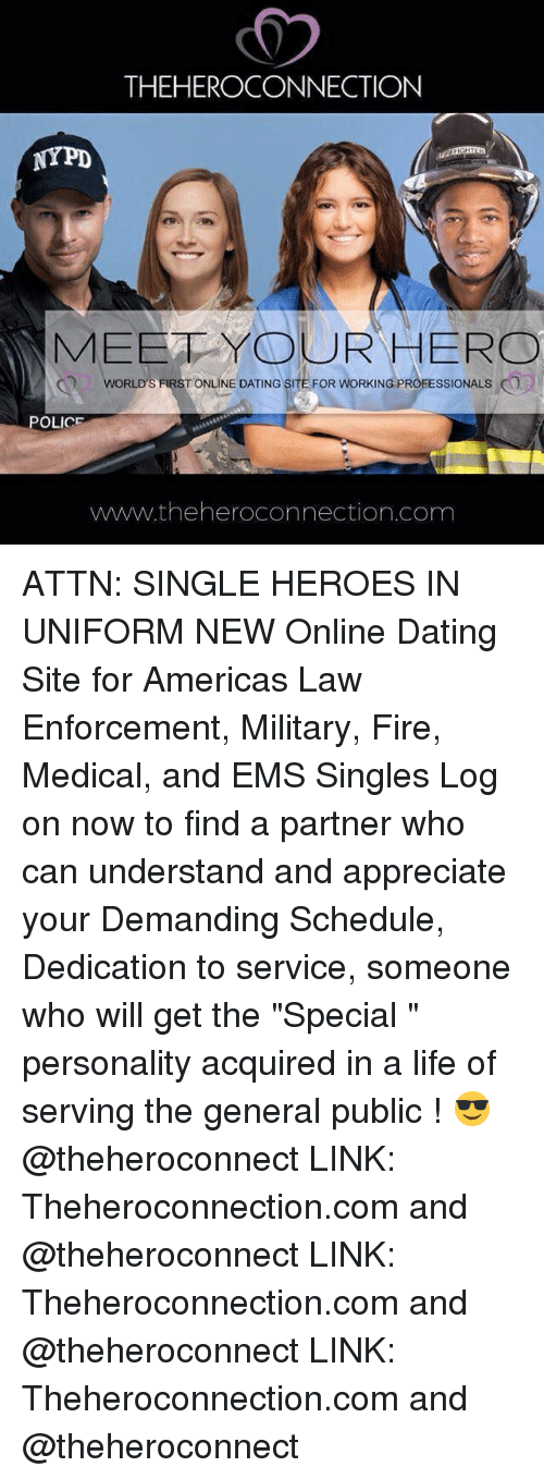 Dating site for law enforcement professionals