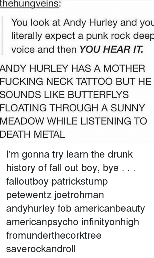 Thehunaveins You Look At Andy Hurley And You Literally