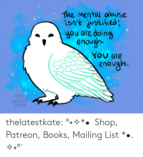 Amazon, Books, and Target: thelatestkate:    °˖✧*• Shop, Patreon, Books, Mailing List *•. ✧˖°`